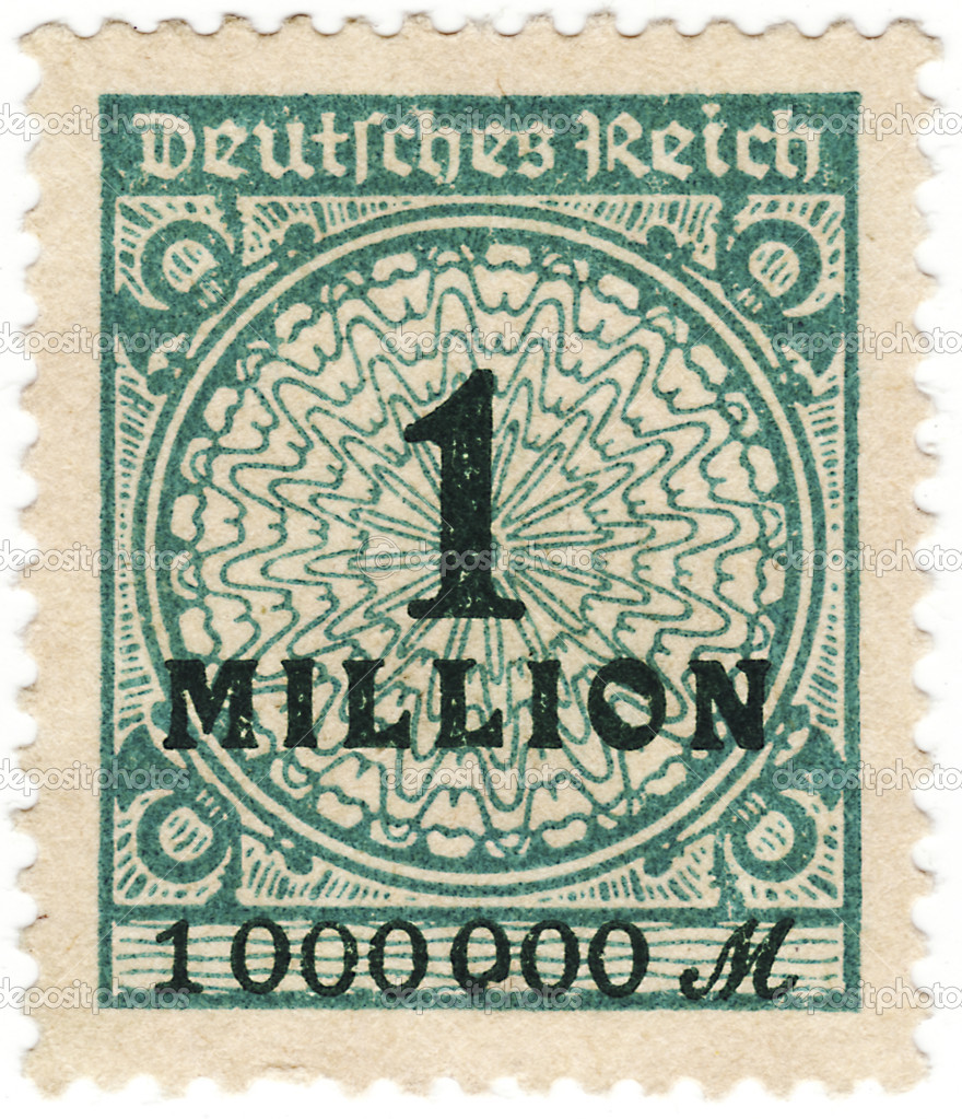 Close up of a stamp in time of inflation — Stock Photo #10097759
