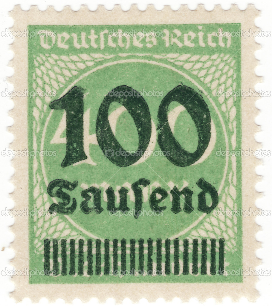 Close up of a stamp in time of inflation — Lizenzfreies Foto #10097791