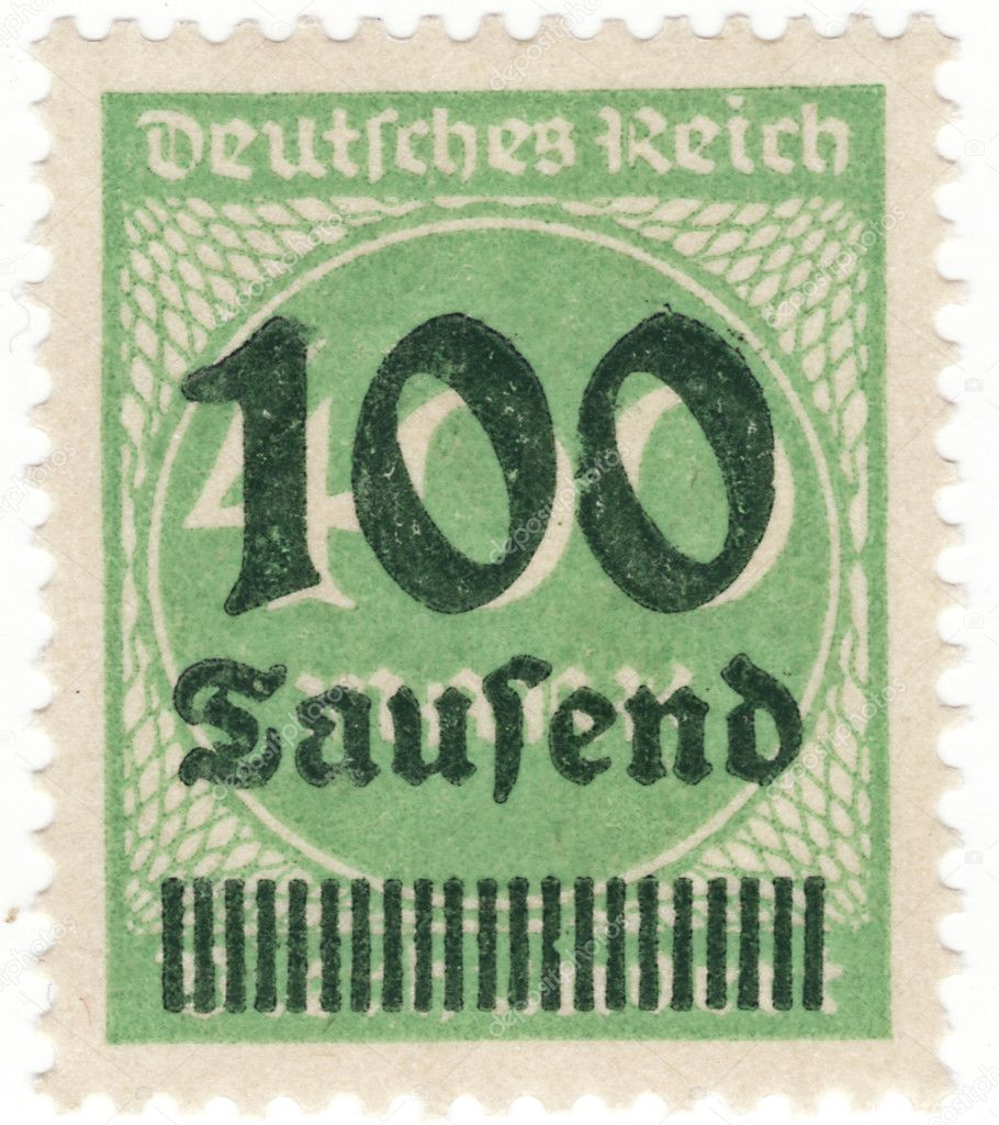 Close up of a stamp in time of inflation — Foto Stock #10097791