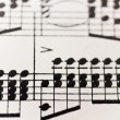 Stock Photo: Sheet of music