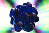 Blue glass beads — Stock Photo