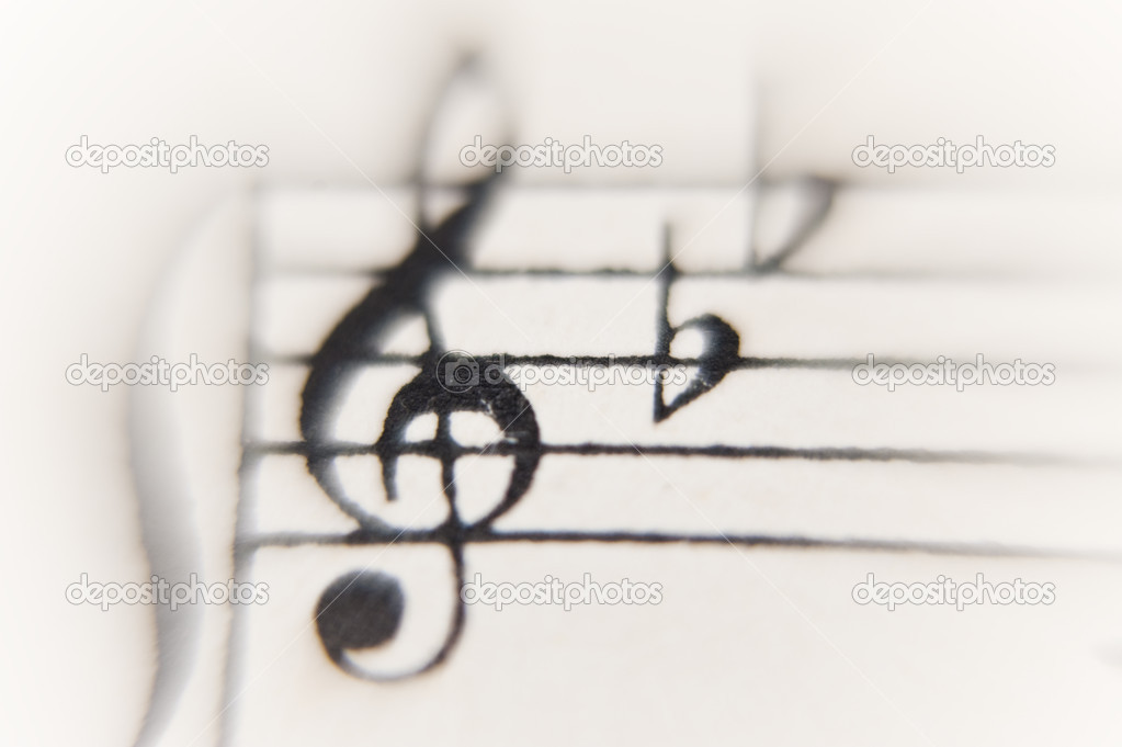 Close op of a sheet of music — Stock Photo #10100005