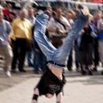 Break dancer — Stock Photo