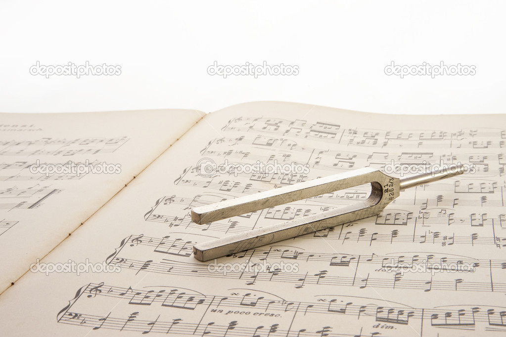 Close up of a tuning fork  Stock Photo #10143668
