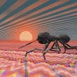 Stock Photo: Digital visualization of ant