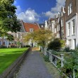 Beguinage in amsterdam hdr - Stock Photo