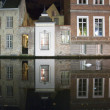 Bruges by night - Stock Photo