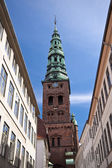 Church spire in Copenhagen — Stock Photo