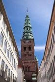 Church spire in Copenhagen — 图库照片