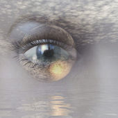 Digital rendering of an eye — Stock Photo