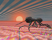 Digital visualization of an ant — Stock Photo
