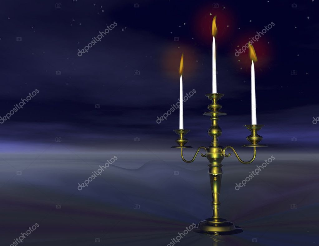 Digital visualization of a candlestick by night   #10156614