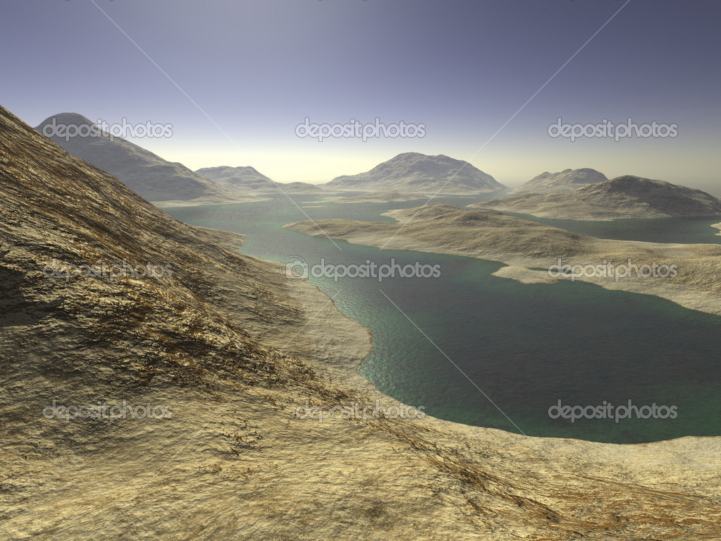 Digital visualization of a surreal landscape — Stock Photo #10157077