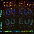 Microphoto Euro Hologram — Stock Photo