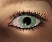 Digital visualization of female eye — Stock Photo