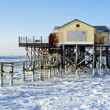 Beach of St. Peter-Ording in winter — Stock Photo #10179027