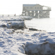 Winter in St. Peter-Ording - Stockfoto