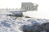 Winter in St. Peter-Ording — Stok fotoğraf