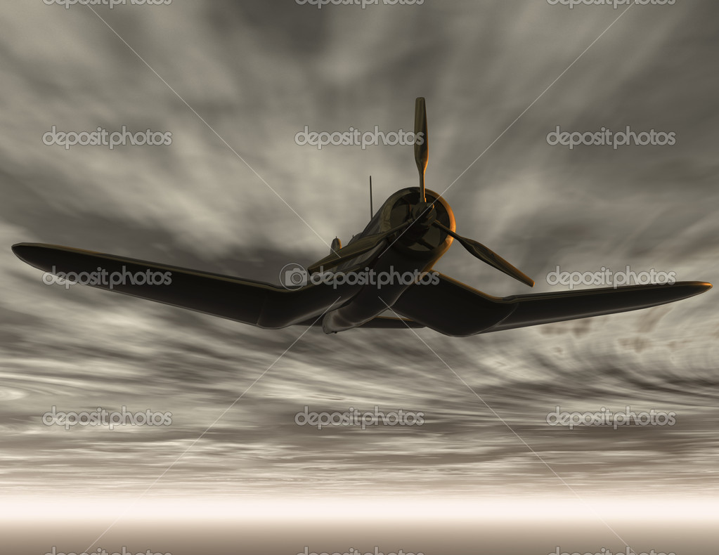 Digital visualization of a airplane — Stock Photo #10179610