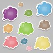 Colorful speech bubles — Stock Vector