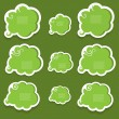 Green speech bubbles — Stock Vector #10108281