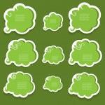 Green speech bubbles — Stock Vector