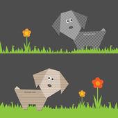 Dog blog — Stock Vector