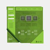 Diseño de web de naturaleza grren — Vector de stock