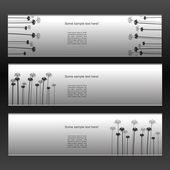 Creative vector banner pattern — Stock Vector