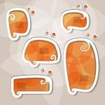 Orange speech bubbles — Stock Vector #10154982