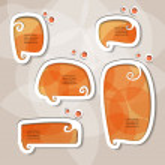 Orange speech bubbles — Stock Vector
