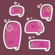 Royalty-Free Stock Vector Image: Pink speech bubbles