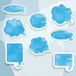 Blue vector speech bubbles — Stock Vector