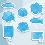 Blue vector speech bubbles — Stock Vector