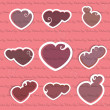 Valentine speech bubbles — Stock Vector