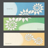 Creative nature banner set — Stock Vector
