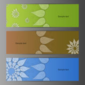Nature vector banner set — Stock Vector