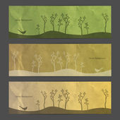 Nature abstract banner set — Stock Vector