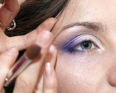 Application of professional make-up — Stockfoto