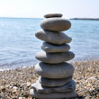 Stock Photo: Stone balance on beach