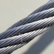 A fragment of a metal towing rope — Stock Photo