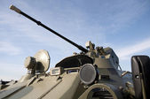 Bepansrade personal transportören Btr-82? -utbildning parad — Stockfoto