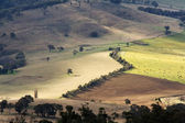 AUSTRALIAN LANDSCAPE AND AGRICULTURE FIELDS — Stock Photo