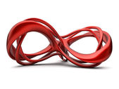 Futuristic red 3d infinity sign illustration — Stock Photo