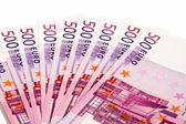 500 euros lie a fan — Stock Photo