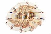 Money lies on a circle — Photo