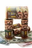 Monetary denominations of different advantage — Stock Photo