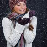Beautiful girl in winter clothes. Studio shot — Stock Photo #10325453