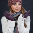 Beautiful girl in winter clothes. Studio shot — Stock Photo #10325503