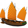 Chinese pirate ship — Stock Photo